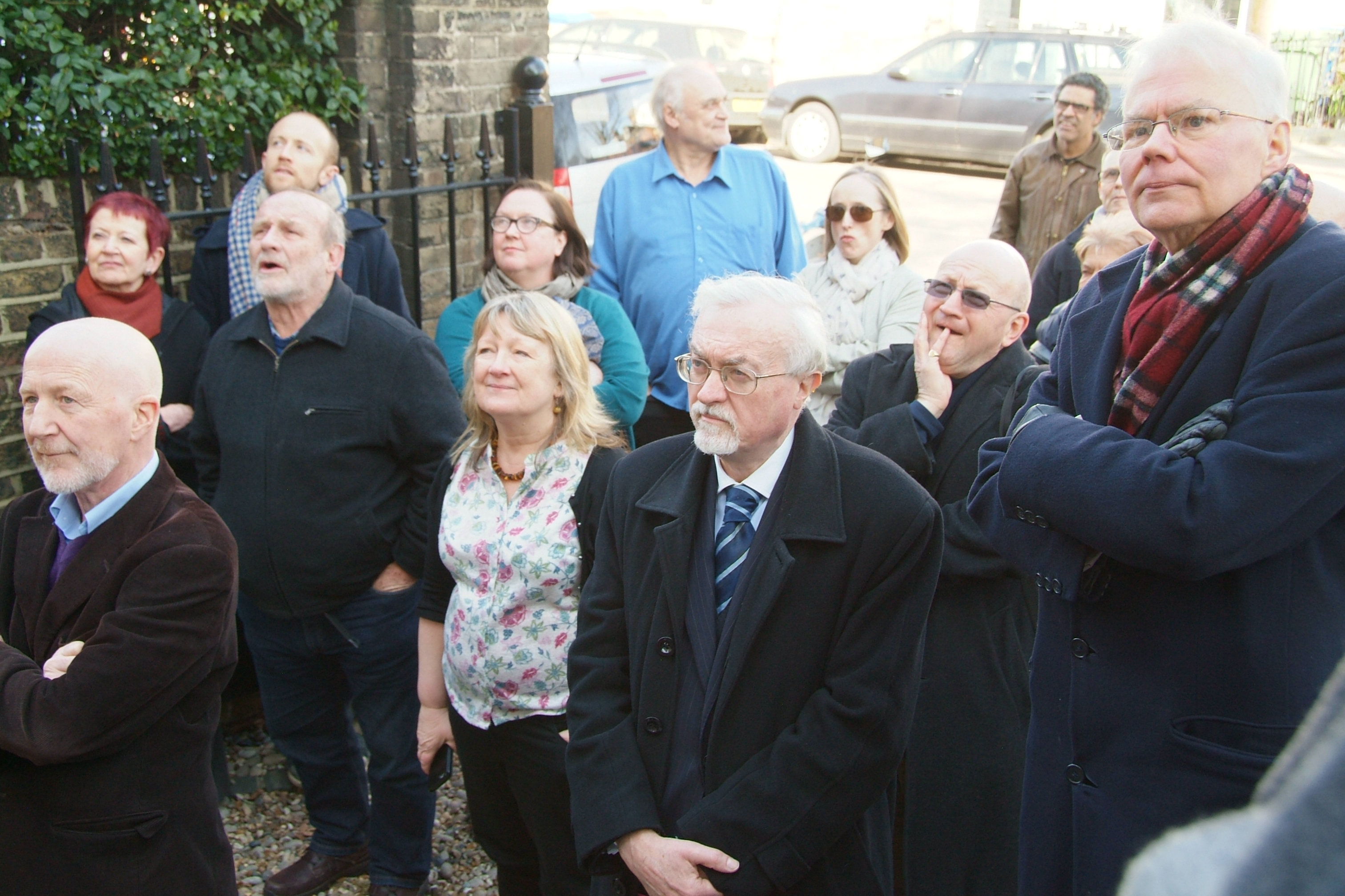 Peckham Society members watched the unveiling