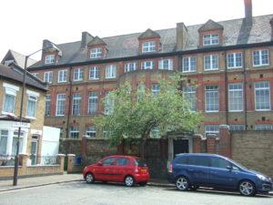 Former Colls Road School building in 2012