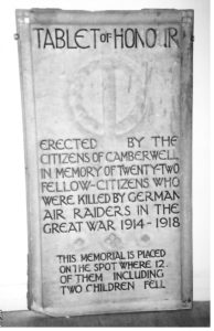 The first memorial plaque